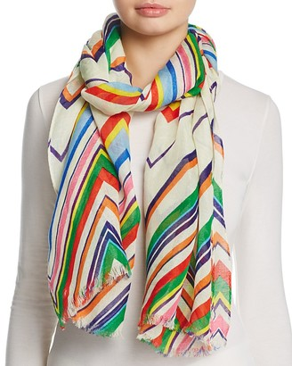 Tory Burch Multi Stripe Oblong Scarf $155 thestylecure.com