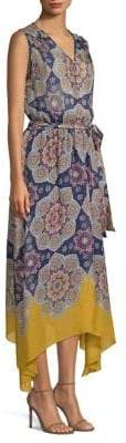 Shoshanna Alhambra Silk Medallion Print Dress