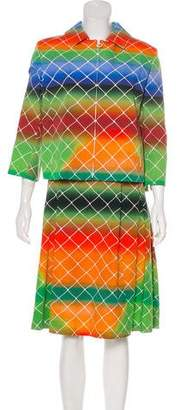 Akris Punto Printed Knee-Length Skirt Set w/ Tags