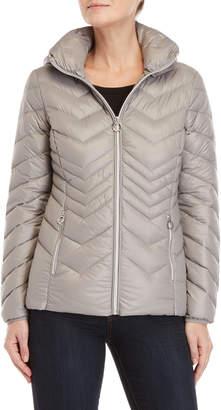 MICHAEL Michael Kors Removable Hood Packable Down Jacket