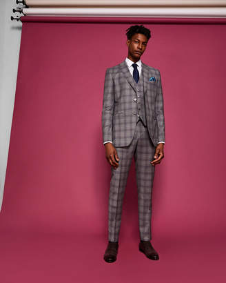 Ted Baker DORLNT Slim fit checked wool suit pants