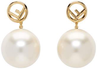 Fendi Gold Pearl F is Earrings
