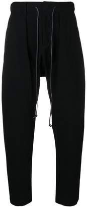 Attachment drawstring tapered trousers