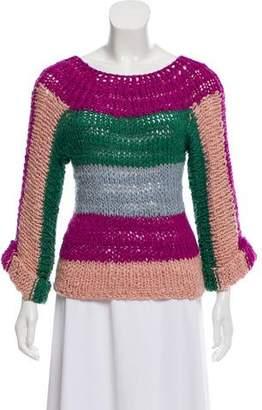 Natasha Zinko Striped Knit Sweater