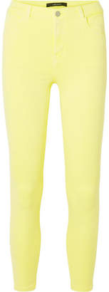 J Brand Alana High-rise Skinny Jeans - Bright yellow