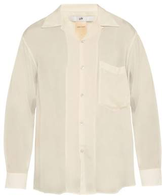 Eytys Semi Sheer Satin Shirt - Mens - Cream