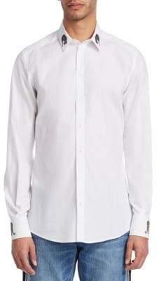 Dolce & Gabbana Embroidered Collar Button-Down Shirt