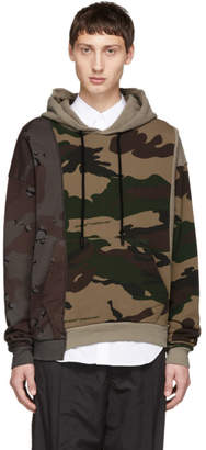 Off-White Off White Multicolor Camo Reconstructed Hoodie