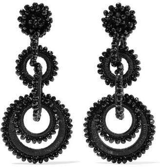 Bibi Marini - Sundrop Bead And Silk Earrings - Black