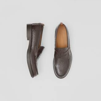 Burberry D-ring Detail Monogram Leather Loafers