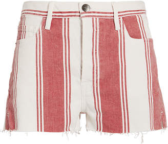Frame Le Fiery Stripe Cutoff Shorts
