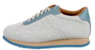Hermes Woven Round-Toe Sneakers