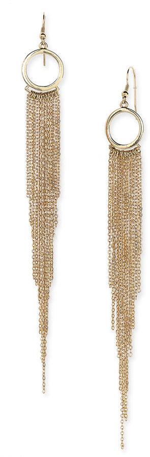 Sequin Linear Chain Earrings