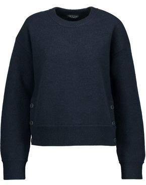 Rag & Bone Kassidy Button-Detailed Merino Wool Sweater