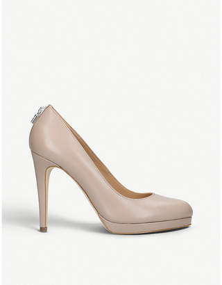 MICHAEL Michael Kors Antoinette leather heeled courts
