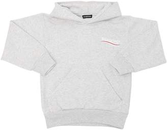 Balenciaga Oversize Hooded Cotton Sweatshirt