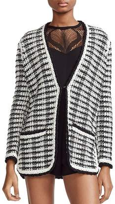Maje Mitch Tweed-Effect Cardigan