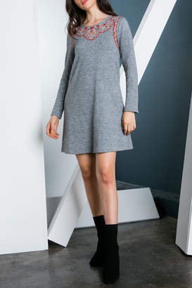 THML Clothing Embroidered Dress