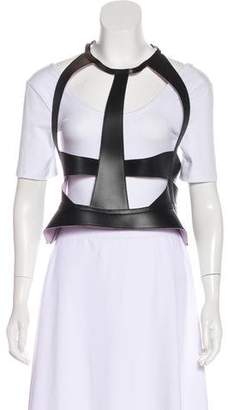 Herve Leger Leather Zip Harness w/ Tags