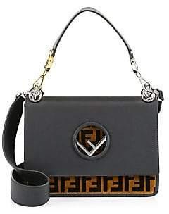 Fendi Women's Kan I Leather Top Handle Bag