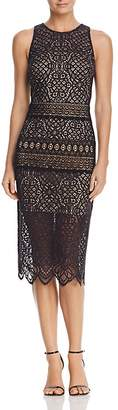 Tadashi Shoji Sleeveless Lace Midi Dress $388 thestylecure.com