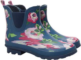 Warehouse Mountain Floral Winter Ankle Hunter Boots - Waterproof PVC Outer, Soft Wool Lining with Durable Rubber Outsole, EVA Footbed & Easy to Clean