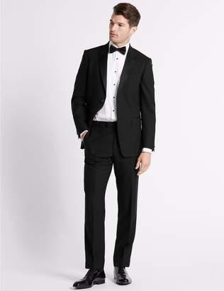 Marks and Spencer Black Regular Fit Wool Jacket
