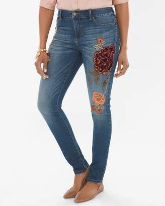 35th Anniversary Velvet Applique Denim Jeggings
