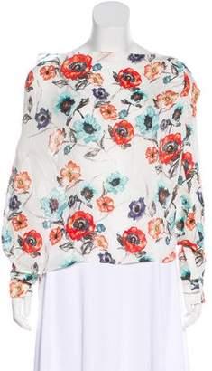 Haute Hippie Long Sleeve Floral Top