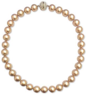 "Nina Gold-Tone Swarovski Ball & Colored Pearl 17"" Magnetic Collar Necklace"
