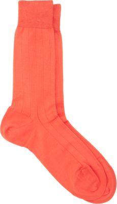 Barneys New York Ribbed Mid-Calf Sock