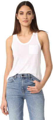 Alexander Wang Classic Cropped Tank with Pocket