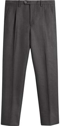 Burberry Wool Mohair Cropped Tailored Trousers