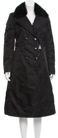MonclerMoncler Sisteron Fur-Trimmed Coat w/ Tags
