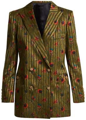 BLAZÉ MILANO Marga Everyday floral-jacquard silk blazer