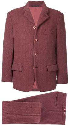 Comme des Garcons Pre-Owned two-tone textured suit