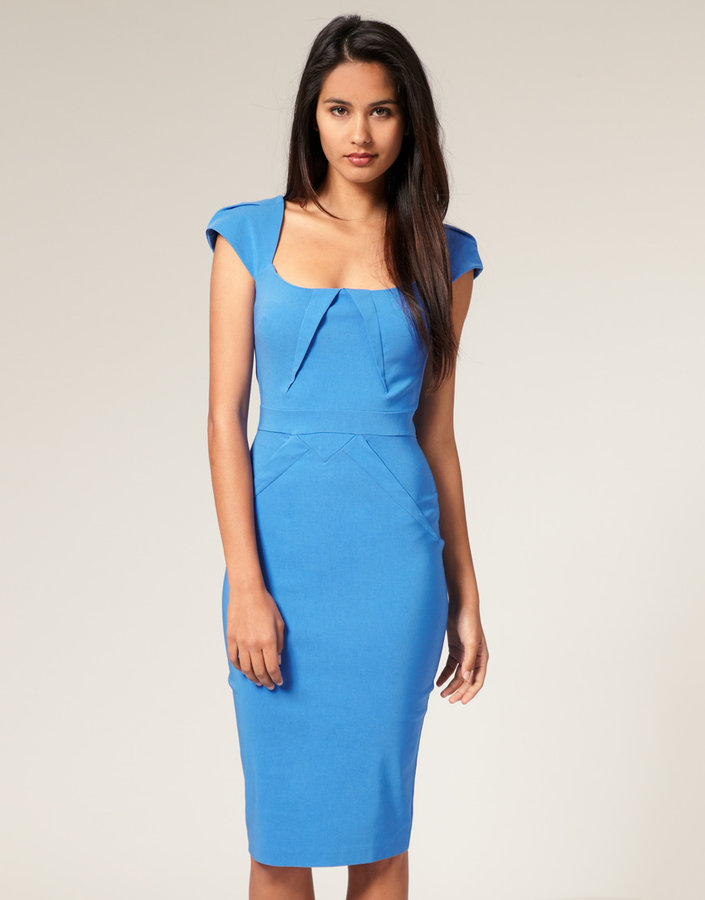 Hybrid Square Neck Cap Sleeve Dress