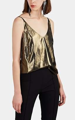 5c78072c7daf L Agence Women s Gabriella Foiled Chiffon Top - Gold