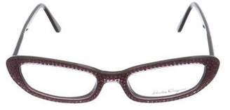 Salvatore Ferragamo Strass Narrow Eyeglasses