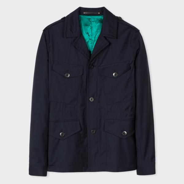 Paul SmithMen's Navy Loro Piana Storm System® Wool Field Jacket
