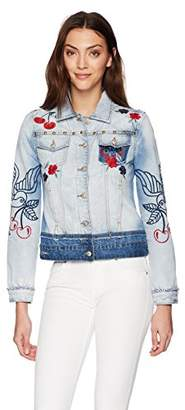 Desigual Women's Eileen Embroidered Detail Denim Jacket