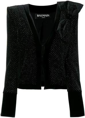 Balmain structured bow jacket