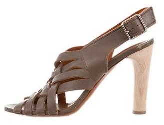 Lanvin Leather Woven Sandals