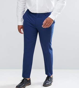 Hatch ASOS DESIGN ASOS PLUS Wedding Skinny Suit Pants In Navy Cross