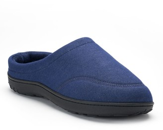 Isotoner Men's Chandler Knit Twill Hoodback Clog Slippers