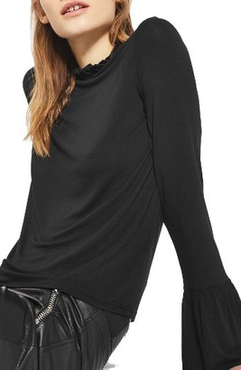 Women's Topshop Ruffle Neck Trumpet Top $32 thestylecure.com