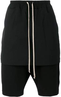 Rick Owens layered kilt shorts