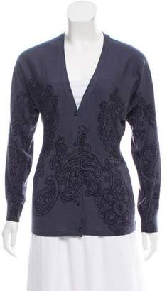 Etro Printed Long Sleeve Cardigan