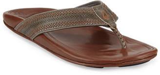 OluKai Po'okela Leather Thong Sandal
