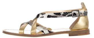 Diane von Furstenberg Ankle Strap Leather Sandals